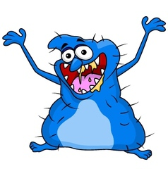 Ugly monster cartoon vector