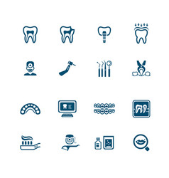 Dental icons - micro series vector