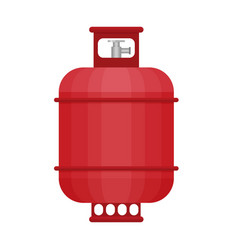 Gas tank icon in flat style vector