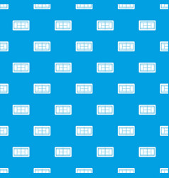 Tennis court pattern seamless blue vector