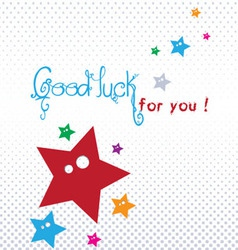 Good luck greeting card vector