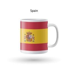 Spain flag souvenir mug on white background vector