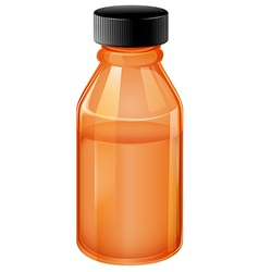 A medical bottle with black lid vector