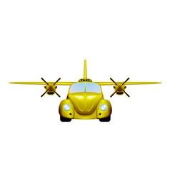 Taxi Retro flying car vector image