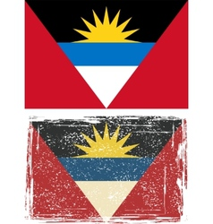 Antigua and barbuda grunge flag vector