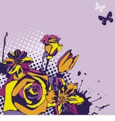 floral vector vector image