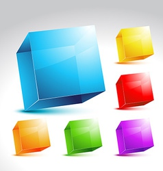 Collection of colorful cube vector