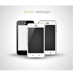 Smartphone realistic collection set of elegant vector