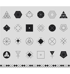 Set of geometric hipster shapes453441 vector