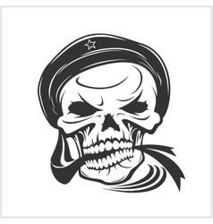 Sailor skull on white vector image