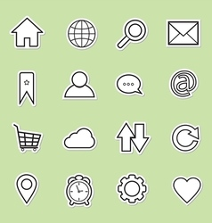 Website and internet icon vector
