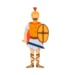 Roman gladiator soldier troop armed forces man vector
