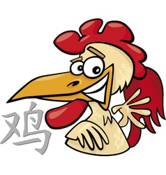 Rooster chinese horoscope sign vector