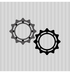 Gears settings design vector