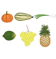 a fruits and vegetables set vector image vector image