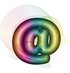 Abstract colorful at symbol vector image
