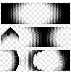Abstract Halftone set vector image vector image