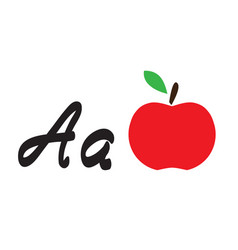 Apple and letter a vector