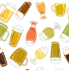 Beer pints pattern vector
