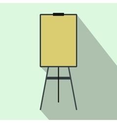 Blank flip chart icon flat style vector image