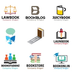Book Object Symbol Design vector image vector image