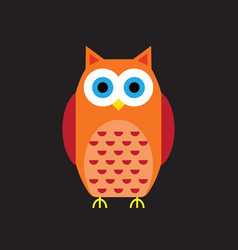 cartoon owl icon vector image vector image