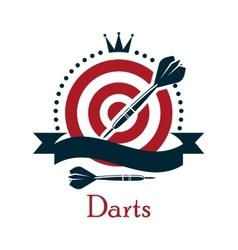 Darts championship emblem vector