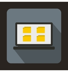 Desktop icon in flat style vector
