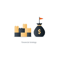 Financial stability concept budgeting and vector