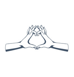 gestures symbolizing love affection sympathy vector image