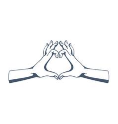 Gestures symbolizing love affection sympathy vector