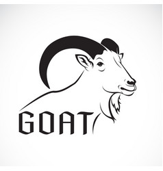 goat design on a white background wild animals vector image vector image