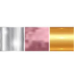 gold silver and rose gold gradient square vector image vector image