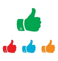 Hand sign Colorfull set vector image vector image