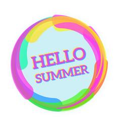 hello summer message vector image vector image