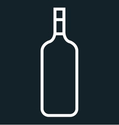icon bottle wine design vector image