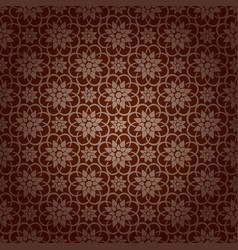 Korean traditional brown flower pattern background vector