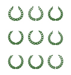 Laurel wreaths vector image