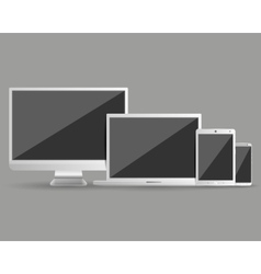 Modern devices set vector image