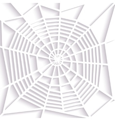 Paper spider web spiral orb web type halloween vector