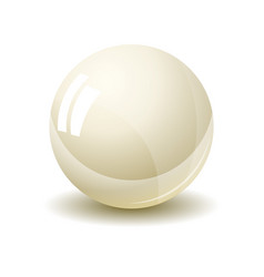 pearl isolated on white background vector image vector image