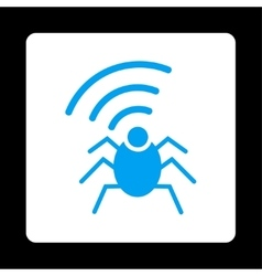 Radio spy bug icon vector image vector image