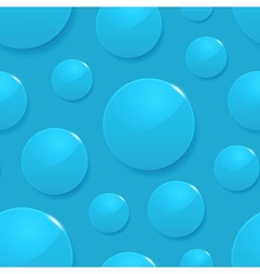 Rain drops on blue seamless background vector image vector image