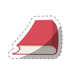 Red book study school cut line vector