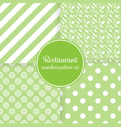 Restaurant or bistro theme lush green stripes vector