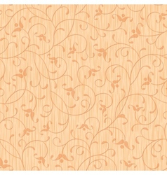 seamless abstract wood carved floral ornament vector image