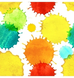 Seamless pattern with colorful watercolor paint vector image vector image