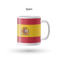 Spain flag souvenir mug on white background vector