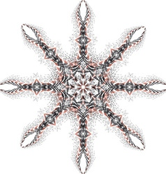 Star of fractal vector image