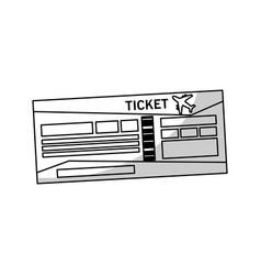 Travel ticket icon vector